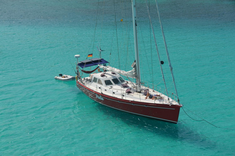 Marlin at Anchor on türkis ground
