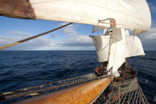 Segeltoern Biskaya Sued auf der Roald Amundsen