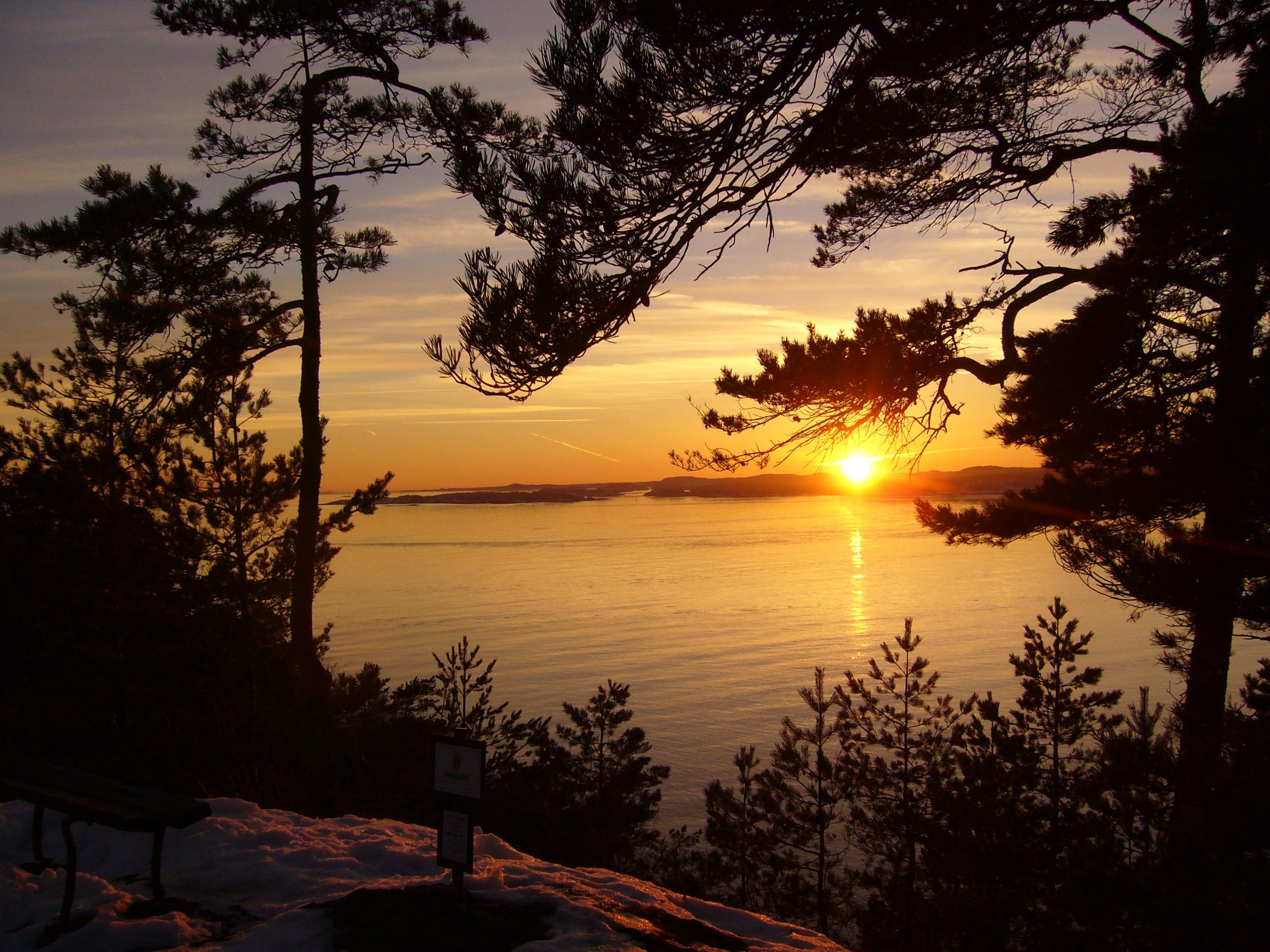 Abendlicher Fjord